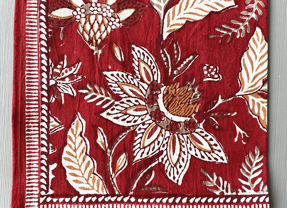 RED WITH LEAVES NAPKIN