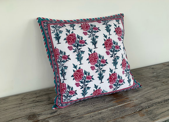 TURQUOISE & FLORAL CUSHION COVERS