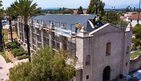 Mission San Gabriel Pepairs Progress Ahead of Jubilee