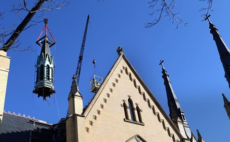 Spire Removed from Virginia Church