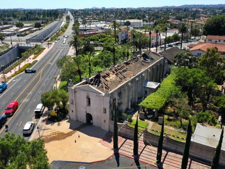 San Gabriel Mission Badly Damaged by Fire