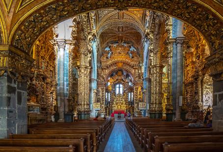 On Porto, Portugal's Church of Saint Francis