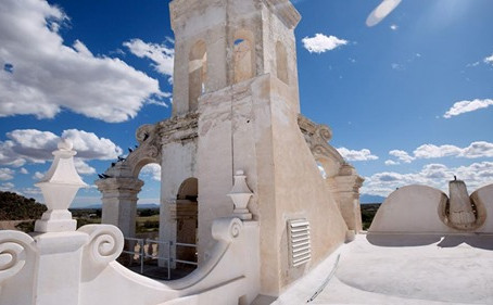 Conservators Prepare for Work at San Xavier Mission