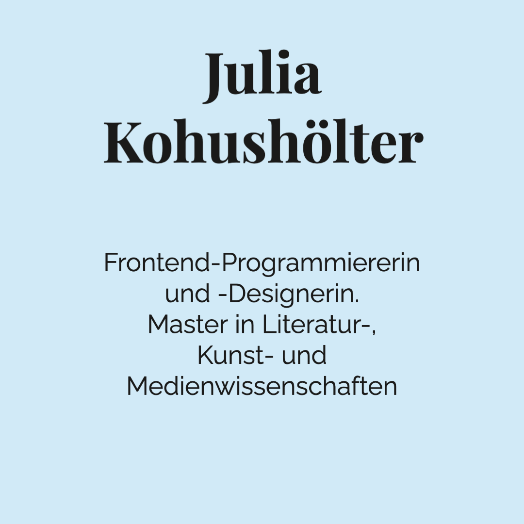 Julia Kohushölter