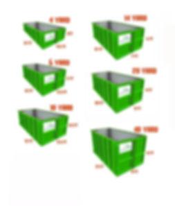 bin sizes for rental