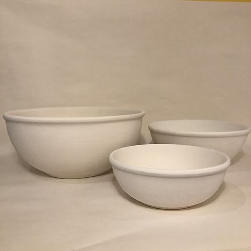 Lipped Bowls - Round - 3 sizes