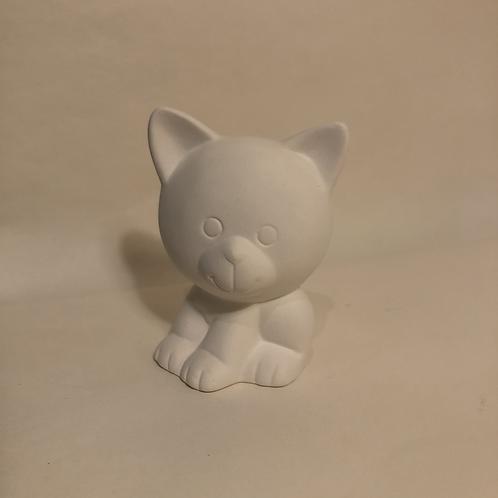 Big Head Cat. - 8.5cm (h)