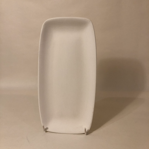Curved Rectagle Coupe Plate - 24cm (l)
