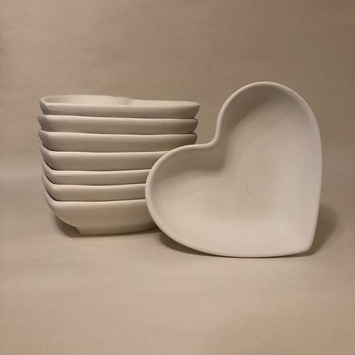 Heart Bowl - 17cm (w) 4.5 (d)