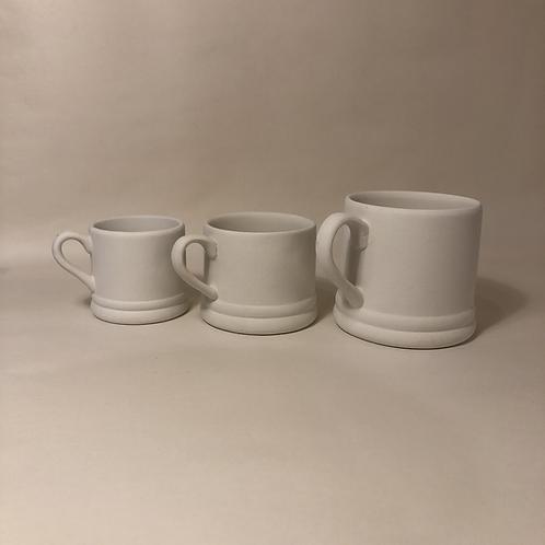 Double Banded Mugs - 3 sizes