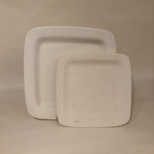 Square Rimmed Plates - 2 sizes