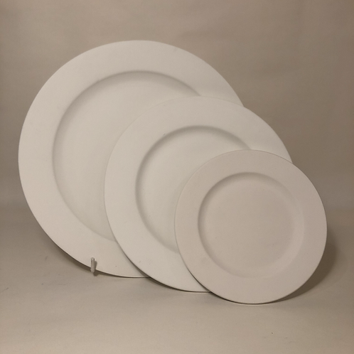 Round Rimmed Plate - 3 sizes