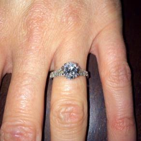 Custom Oval Diamond Engagement Ring
