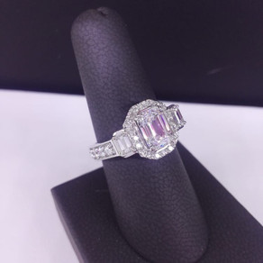 Custom Emerald Cut Diamond Ring