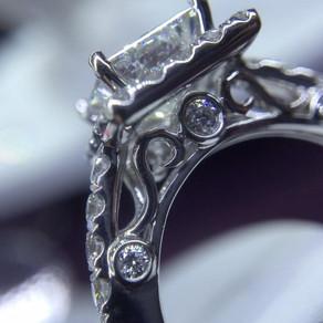Custom White Gold Diamond Ring