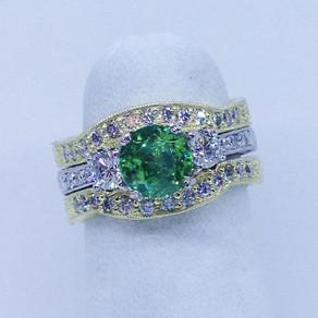 Custom Green Garnet Ring!