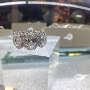 Custom 3 Diamond Ring