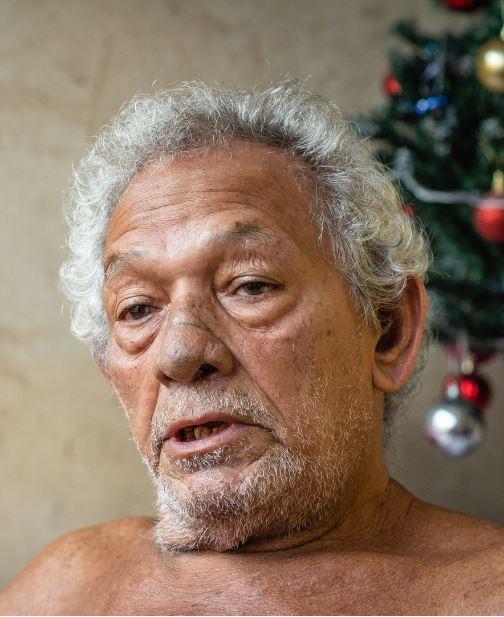 O pescador Domingos Cardoso, presidente da Associação de Pescadores de Vila do Conde (Foto: Pedrosa Neto/Amazônia Real)