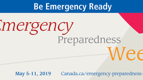 May 5-11, 2019 is Emergency Preparedness Week in Canada - are you ready?