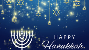 Happy Hanukkah - Festival of Lights - Wishing you blessings & joy this season.
