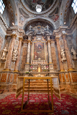 One of the beautiful churches inside