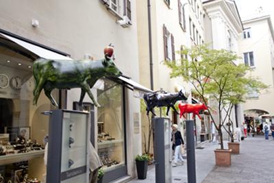 Lugano shopping district