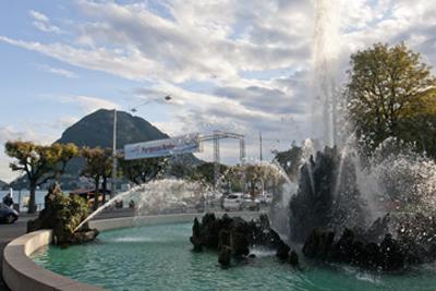 Lake Lugano fountain