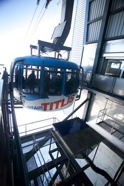 Gondola at the top off Titlis