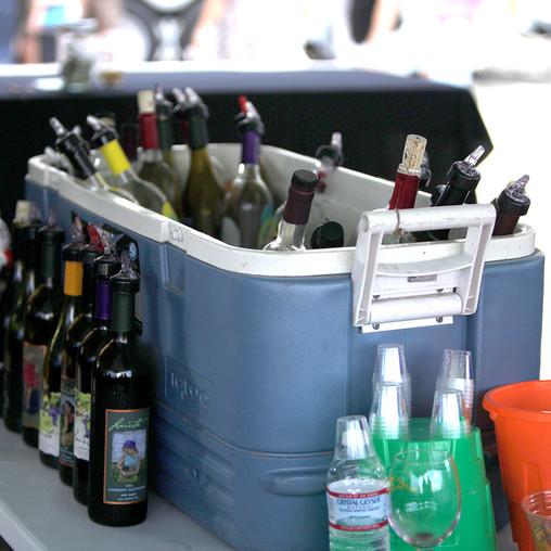 Cooler full of wine