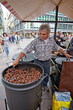 Selling hot chestnuts
