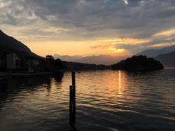 Sunrise on Lake Como