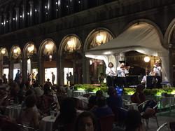 Musicians at night