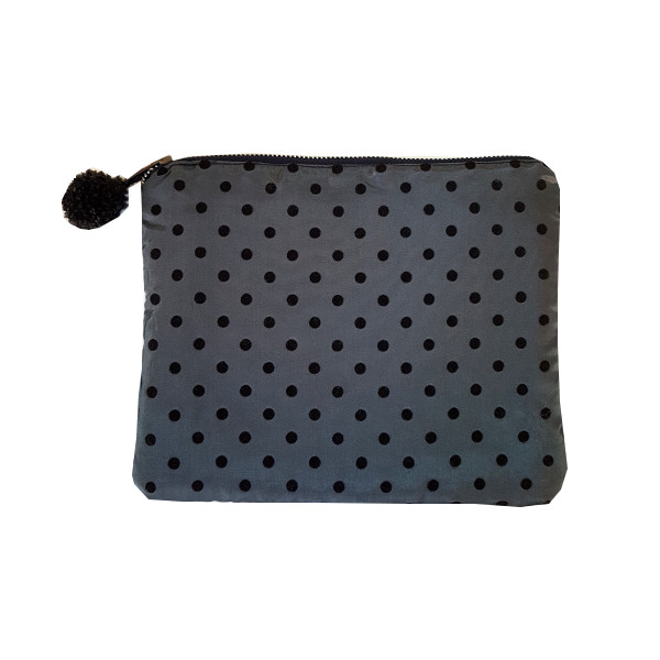 Pouch Grey dots