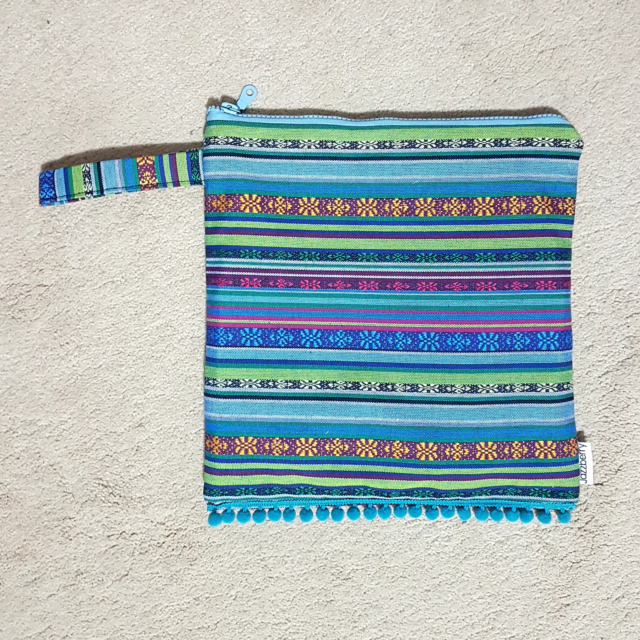 Pouch ethnic sea blue
