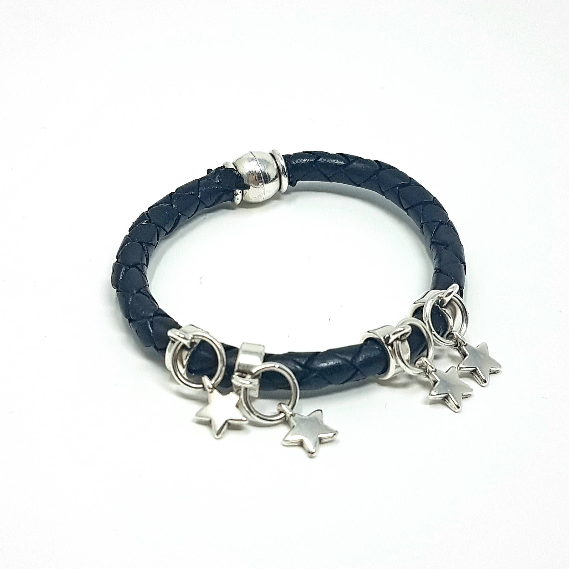 Leather star bracelet