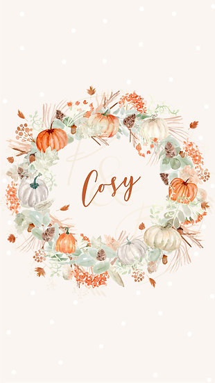 Cosy Wreath Mobile Wallpaper Background