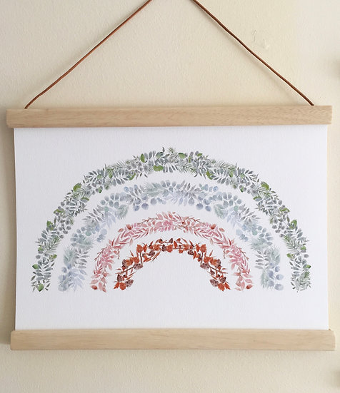 Full Wild Garden Rainbow A4 or A3