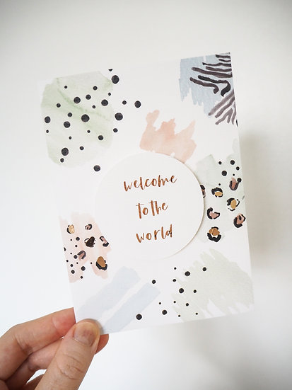 Abstract Safari personalised card A5 or A6