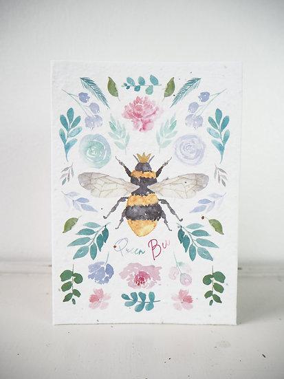 Queen Bee Bouquet Seeded  Card A6