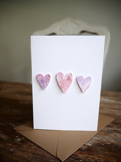 Lovely Hearts A6 card