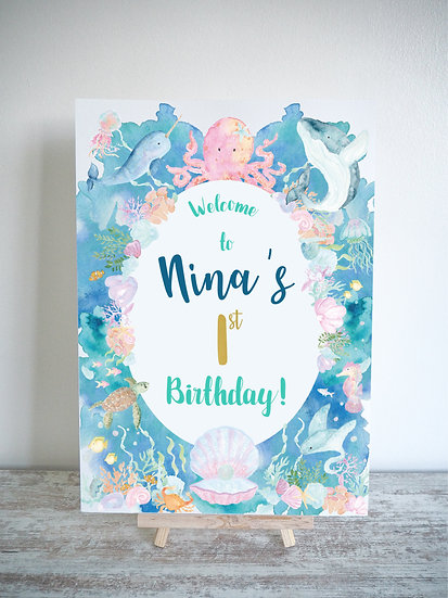 Under The Sea Pastel Occasion Sign A4 or A3