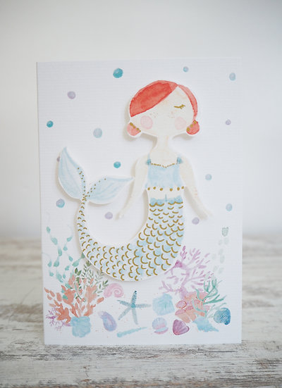 Fern Mermaid A6 Card