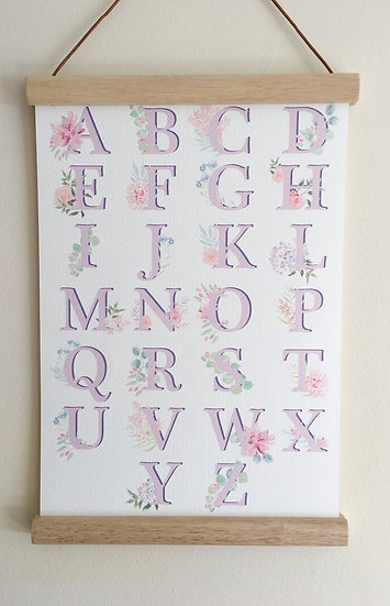 Floral Blush Alphabet A4 or A3