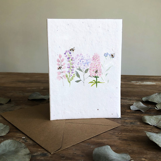 Busy Bees Seeded Card A6