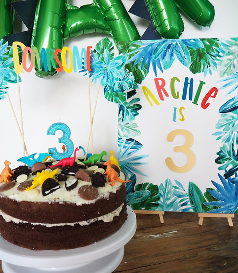 Jungle Brights Occasion Sign A4 or A3
