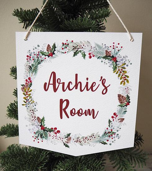 Festive Christmas Door Hanger