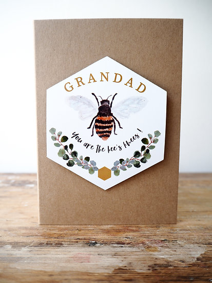 'Your are the bee's knees' keepsake magnet card A6