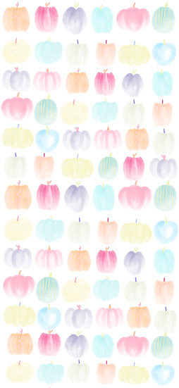 Pastel Pumpkin Lineup Phone Wallpaper
