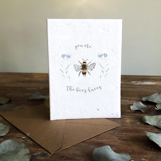 'The bee's knees' Seeded Card A6