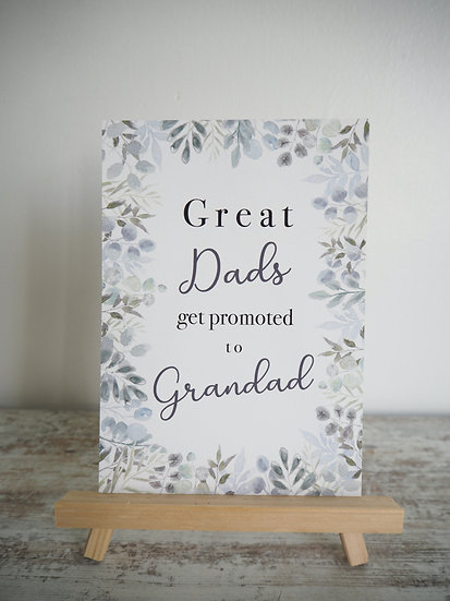 Great Dads ...  Classic font print A5